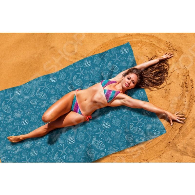 Покрывало пляжное Сирень «Подводные животные»