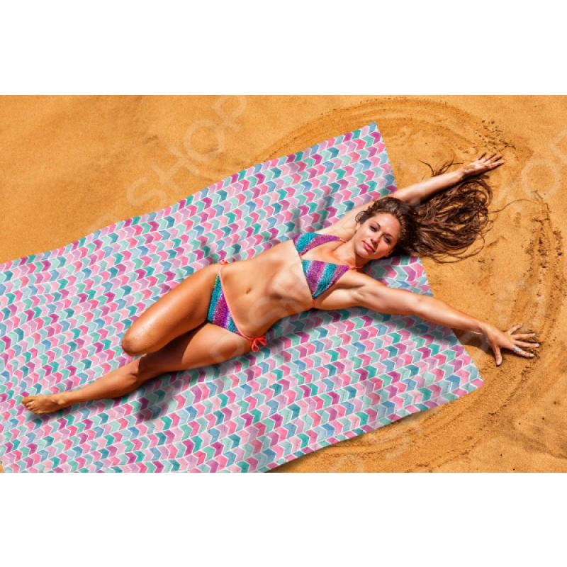 Покрывало пляжное Сирень «Акварельное море»