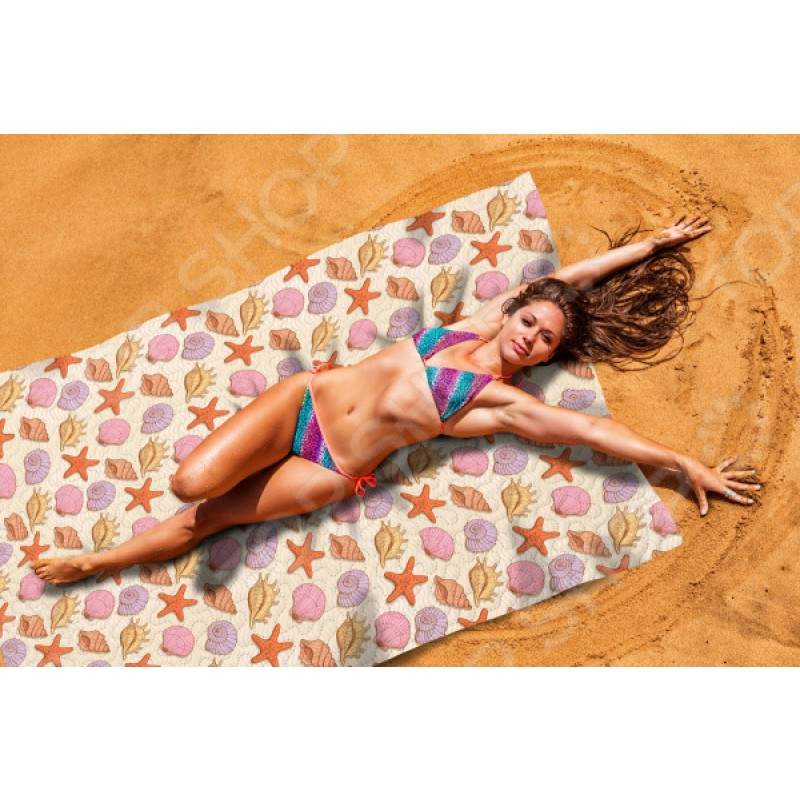 Покрывало пляжное Сирень «Ракушки»