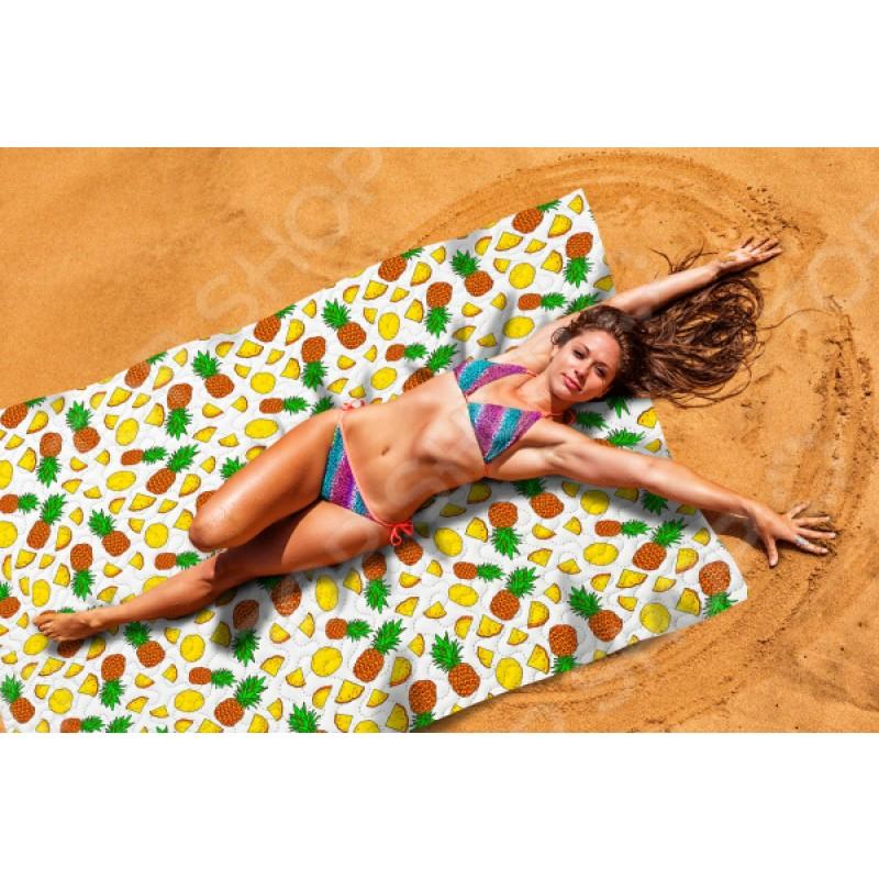 Покрывало пляжное Сирень «Ананасовый коктейль»