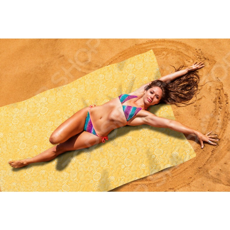 Покрывало пляжное Сирень «Желтый коралл»