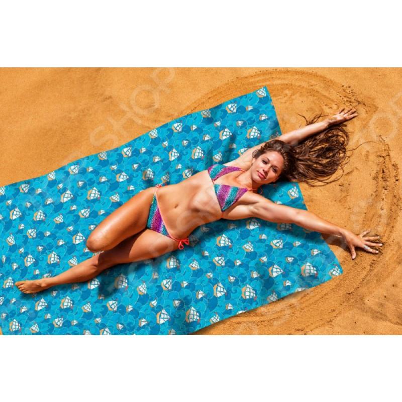 Покрывало пляжное Сирень «Корабли в море»