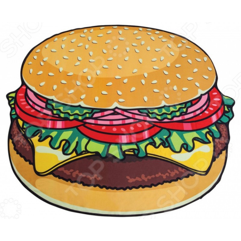 Покрывало-парео пляжное Beach Towel «Гамбургер»