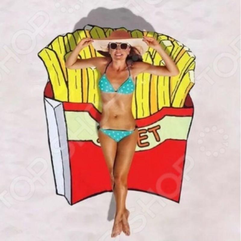 Покрывало-парео пляжное Beach Towel «Картофель Фри»