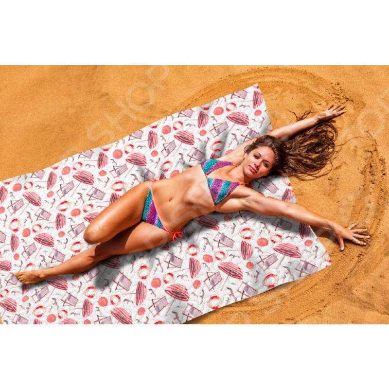 Покрывало пляжное Сирень «Пляжная романтика»