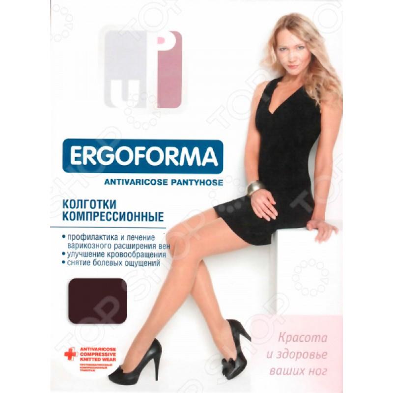 Колготки медицинские эластичные компрессионные Ergoforma EU 102. Цвет: шоколадный