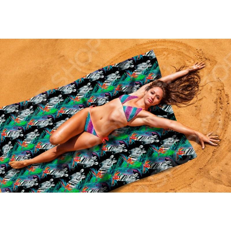 Покрывало пляжное Сирень «Зебры»
